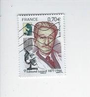 Personnalité Cinquantenaire De La Mort D'Edmond Locard 5043 Oblitéré 2016 - Francia