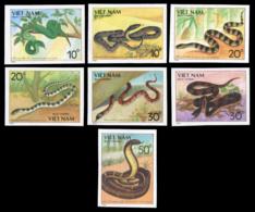 No. 2029U-2035U  Vietnam 1989  Venomous Snakes - Viêt-Nam
