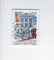 Bicentenaire De L'Ecole Nationale Supérieure Des Mines De Saint-Etienne 5066 Oblitéré 2016 - Francia