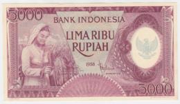 INDONESIA 5000 RUPIAH 1958 UNC NEUF Pick 64 - Indonesien