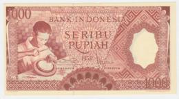 Indonesia 1000 Rupiah 1958 UNC NEUF Pick 61 - Indonesien