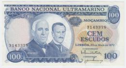 Portugal Mozambique 100 Escudos 1972 XF+ Pick 113 - Mozambique