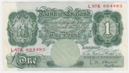 Great Britain 1 Pound 1955 - 1960 VF++ 369c - 1 Pound