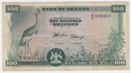UGANDA 100 SHILLINGS 1966 VF PICK 4 - Oeganda