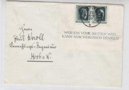 Brief Mit Halbiertem Block 7  Aus NORDSTETTEN 20.4.37 Nach Horb - Briefe U. Dokumente
