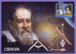 Kazakhstan 2009. Maxicard. Europa 2009. Astronomy. Galileo Galiley. Maximum Cards. - Kazakhstan