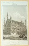 Leuven Stadhuis/ Louvain Hôtel De Ville/ Leuven (B) City Hall 1844, Lemaitre - Estampes & Gravures
