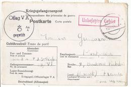 POSTKARTE PRISONNIERS DE GUERRE OFLAG VA 1.12.1941 WEINSBERG POUR MONTPELLIER - Postmark Collection (Covers)