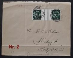 DR -- Portogerechter Brief Mit Mi. WZ 29 -- Offenbach Nach Nürnberg, Mi. 100,-€ (996) - Covers & Documents