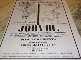 ANCIENNE  PUBLICITE  MADAME CHOISI JOUVOL 1928 - Perfumes & Belleza