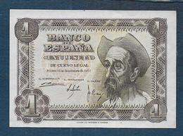 Espagne - Billet De 1 Peseta De 1951 - 1-2 Pesetas