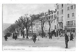 38  - CPA  De  VIENNE  - TRAMWAYS , Commerces  , Le  Cours  Briller  En  1904  ( Très  Animée ) - Vienne