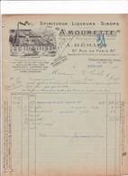 """93-A.Hémard..Spiritueux-Liqueurs-Sirops.."""" Amourette """"..Montreuil ...(Seine-Saint-Denis)..1923 - Autres"""