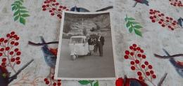 FOTO CON MOTO APE SAN MARTINO DELLE SCALE (PA) 1964 - Automobiles