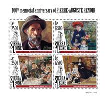 Sierra Leone  2019  Paintings Of  Pierre-Auguste Renoir S202002 - Sierra Leone (1961-...)