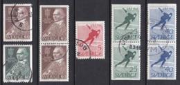 SE228 – SUEDE – SWEDEN – 1966 – N. SÖDERBLOM & WORLD SKATING CHAMPIONSHIPS – Y&T 531/535 USED - Used Stamps