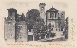 PECETTO TORINESE - (TORINO) - CHIESA PARROCCHIALE E TORRE ANTICA - VIAGGIATA 1902 - Autres Villes