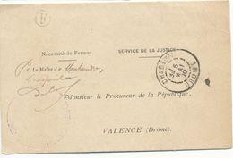 DROME LAC 1900 CHABEUIL T84 EN FRANCHISE + BOITE RURALE F = MONTVENDRE (CACHET DE LA MAIRIE ) - 1877-1920: Semi-Moderne