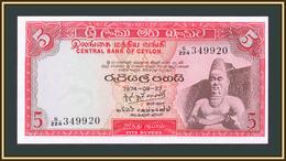 Ceylon (Sri Lanka) 5 Rupees 1974 P-73 (73Aa.3) UNC - Sri Lanka
