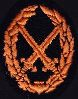 CT 3. Certificat Technique N° 3. Tissu Brodé Au Fil Orange. - Army