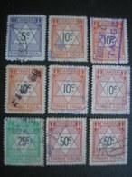 MAROC - 9 Timbres Fiscaux Oblitérés - Tanger - Emission De Londres - Maroc (1891-1956)