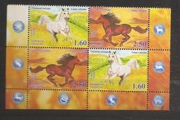 Tadjikistan Tajikistan 2014 N° 489 / 92 ** Chevaux, Année Lunaire Chinoise, Samand, Khatli, Cheval, Serpent, Rat, Tigre - Tadjikistan