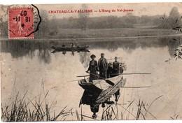 Chateau-la-Vallière - Pêche Sur L'étang Du Val-Joyeux - !!! Carte Qui Se Dédouble En épaisseur - France