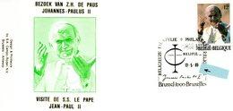 2166 (visite Jean-Paul II En Belgique) Sur Lettre Avec Cachet Relifil 13-5-1985 (voir Scan & Descr) - FDC