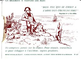 BUVARD BLOTTING PAPER INSTITUT NATIONAL DE SÉCURITÉ NAPOLÉON 1 ER ÎLE D'ELBE - Banco & Caja De Ahorros