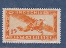 INDOCHINE   N°  YVERT  :  PA 36   NEUF AVEC  CHARNIERES      ( Ch  3 / 15 ) - Luftpost