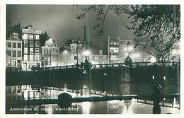 Niederlande - Amsterdam Bij Avond Amstelbrug -gel. - Amsterdam