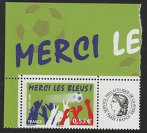 Timbre Personnalisé 3936B Merci Les Bleus 2006 - Personnalisés