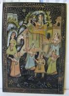 PDGL. 510. Peinture Thaïlandaise Sur Soie. Éléphant Et Danseuses - Oils