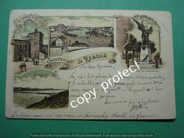 FR9 Roanne Loire Souvenir Litho Lithographier 1899 - Roanne