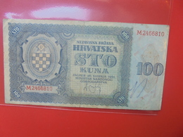 CROATIE 100 KUNA 1941 CIRCULER - Croatia