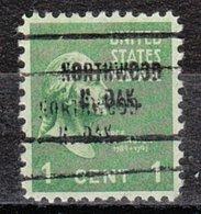 USA Precancel Vorausentwertung Preo, Locals North Dakota, Northwood 704, Double - United States