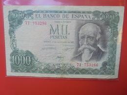 ESPAGNE 1000 PESETAS 1971 CIRCULER - 1000 Pesetas