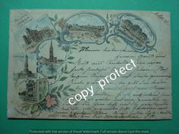 FR13 Royan Sur I'Ocean Rochefort Souvernier Litho Lithographier 1897 Casino Pontaillac Eglise Etc - Royan