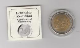 Fussball WM2006 2 Euro Deutschland Gedenkmünze Mit Zertifikate UNC - Pièces écrasées (Elongated Coins)