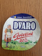 Lithuania Litauen Sour Cream Top 2020 Cows - Milk Tops (Milk Lids)