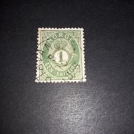 "PL0511 NORVEGIA 1855-1909 1 EEN SKILL ""XO"" - Norvegia"