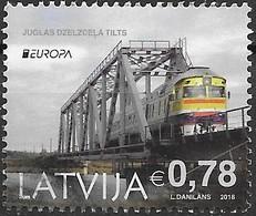 W235 Latvija-Letland 1 Stamp  2018 Used-oblit. - 2018