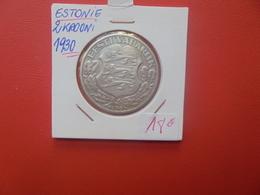 ESTONIE 2 KROONI 1930 ARGENT (A.12) - Estonia