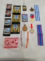 16691  MILITARIA LOT INSIGNES-DECORATIONS DIVERS CIVILS OU MILITAIRES - Médailles & Décorations