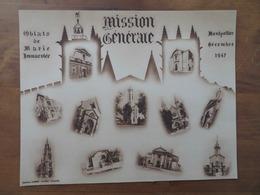 MISSION GÉNÉRALE OBLATS DE MARIE IMMACULÉE- MONTPELLIER- DÉCEMBRE 1947 - Languedoc-Roussillon