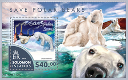 SOLOMON Isl. 2015 - Air Pollution, Polar Bears - YT CV=16 €, BF460 - Umweltverschmutzung