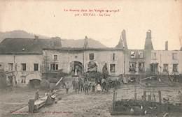 88 Etival La Cour Ruines Cpa Carte Animée La Guerre Dans Les Vosges 1914 1915 - Etival Clairefontaine
