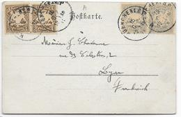 BAYERN - 1901 - CARTE De MÜNCHEN => LYON - Bavière