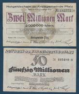 Allemagne - Lot De 2 Billets - [ 3] 1918-1933: Weimarrepubliek