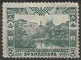 BOHEME ET MORAVIE / TIMBRE PUBLICITAIRE  Sans Gomme - Boemia E Moravia